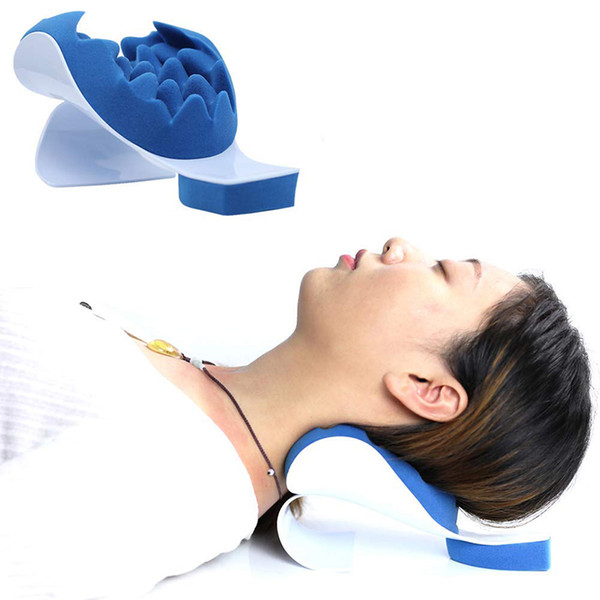 neck support relaxer shoulder chiropractic pillow traction stretcher device cervical spine therapeutic and helps spine alignment 105pcs