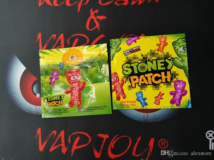 Stoney Patch Package Ziplock Gummies Smell Proof Bags Only Packaging Pack Extra Strength 350mg Zipper Pouch Vape Carts Cartridges DHL