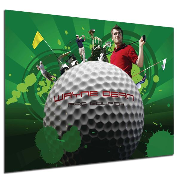 Personalised Golf Montage Poster Poster Only