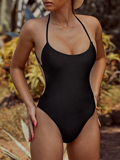 ZAFUL Criss Cross Backless One-piece Swimsuit