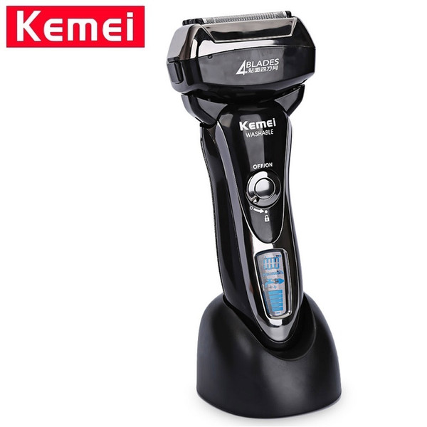 Kemei KM-5568 Washable 4 Heads Electric Shaver for Men Rechargeable Shaving Machine Professional Shaver Razor Trimmer