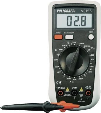 Voltcraft Hand-Multimeter digital VC155 CAT III 600 V Anzeige (Counts): 2000 (VC155)