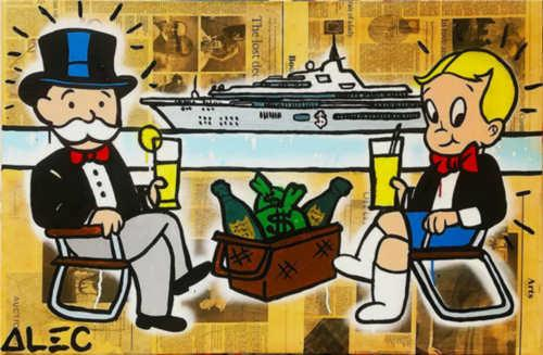 alec monopoly oil painting on canvas graffiti art wall decor yacht wall art home decor handpainted &hd print 191013