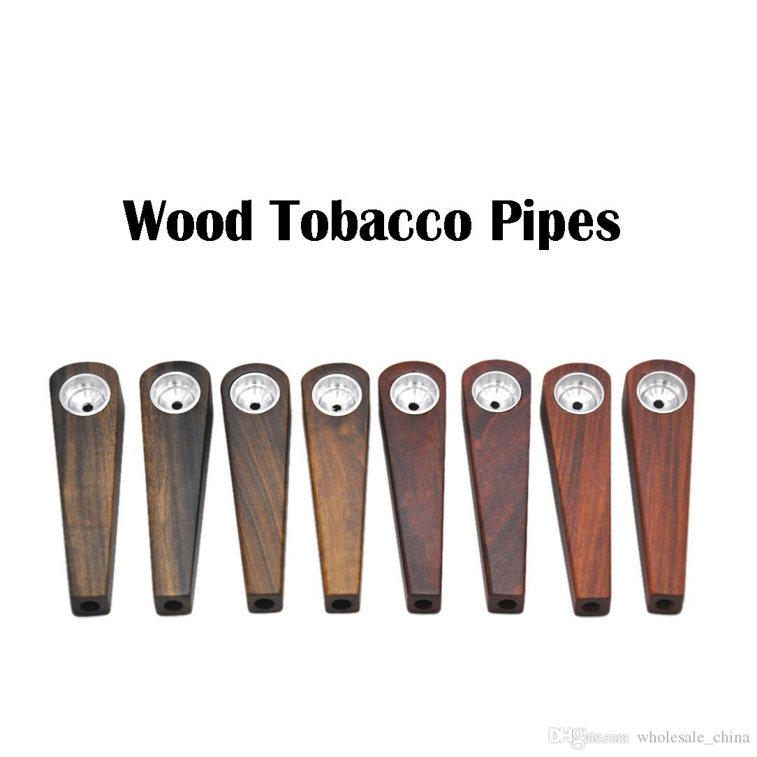 New Wooden Tobacco Pipes Pocket Portable Pipes High Quality Classic Simple Style Smoking Pipes For Smoker Factory Price DHL