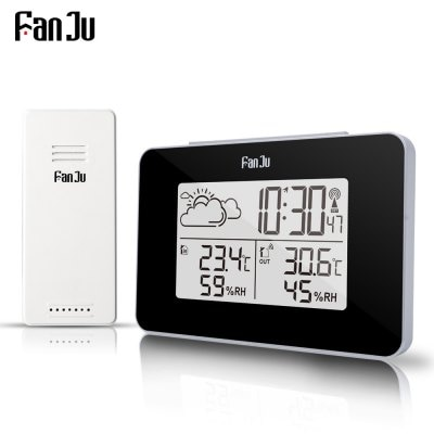Weather Station Wireless Sensor Hygrometer Thermometer Electronic LCD Time Desktop Table Clocks