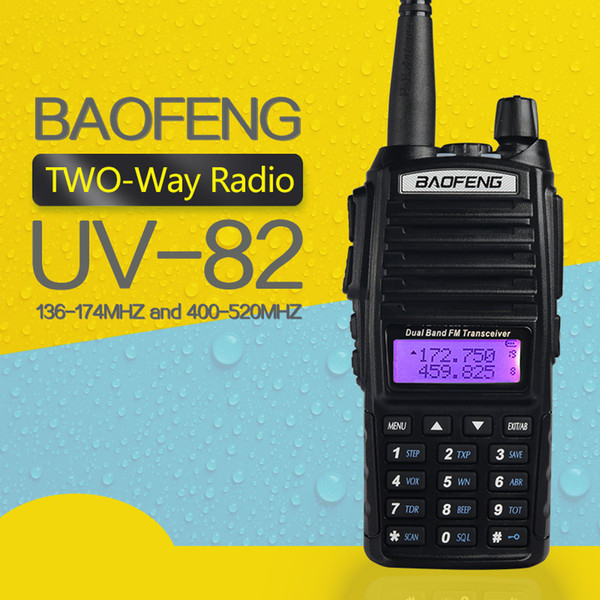 new baofeng walkie talkie baofeng uv-82 dual-band 136-174/400-520 mhz fm ham two way radio transceiver