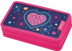 Herlitz Blue Hearts Hard pencil case Polyester Blau - Pink (50014248)
