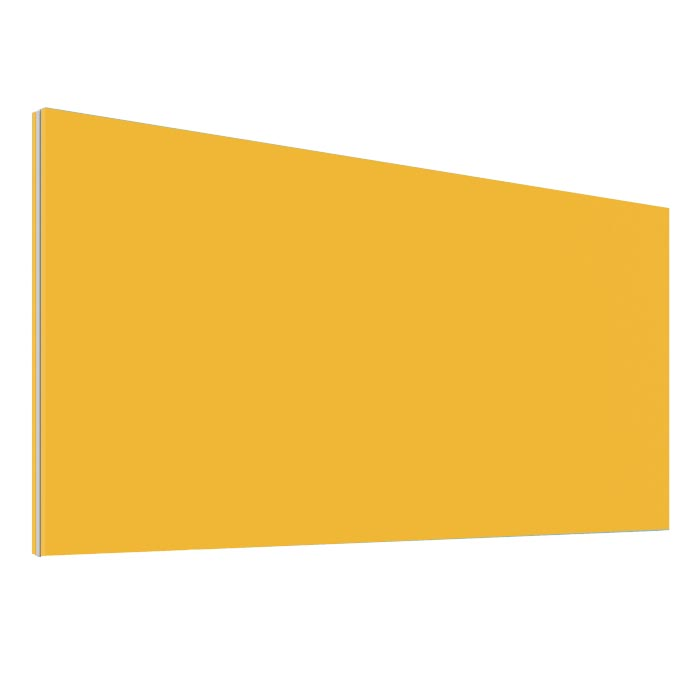 Yellow Office Desk Screen 2000mm Wide - Height 380mm