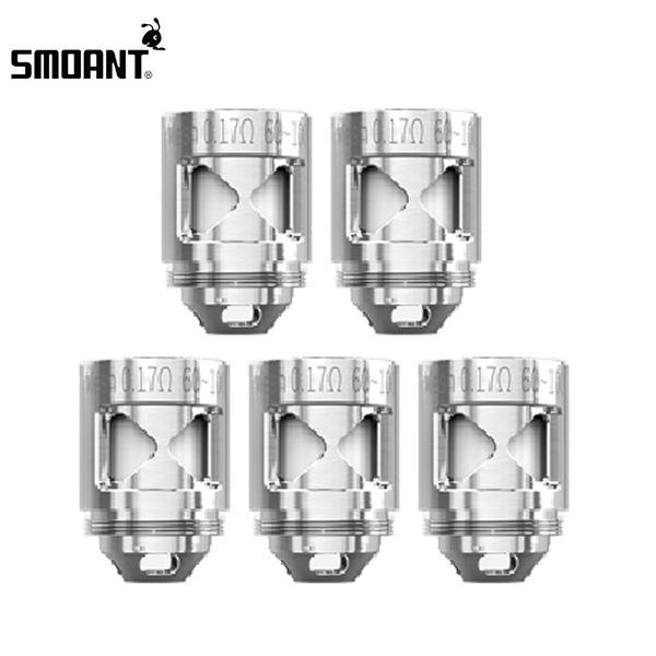 3 x Authentic Smoant Naboo 0.17ohm Mesh Replacement Coil Head for Sub-ohm Tank Clearomizer Atomizer