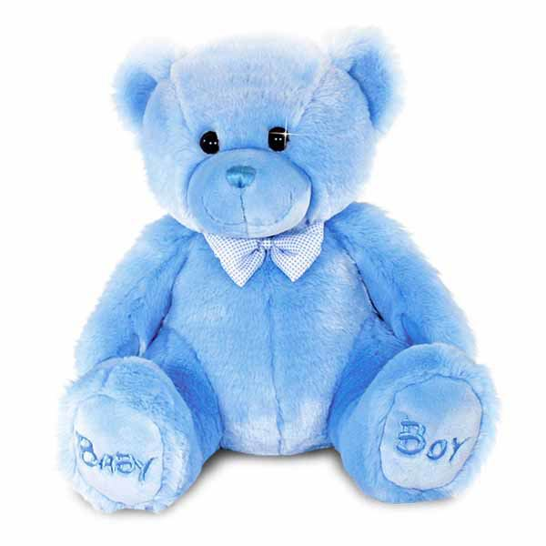 Baby Boy Bear Soft Toy