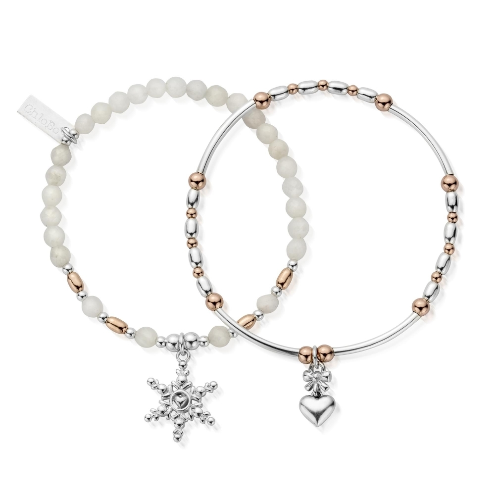 ChloBo MBSET743745 Women's Magic Of Christmas Set Of 2 Bracelets