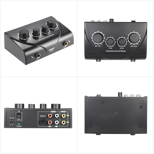 Karaoke Sound Mixer Dual Mic Inputs With Cable