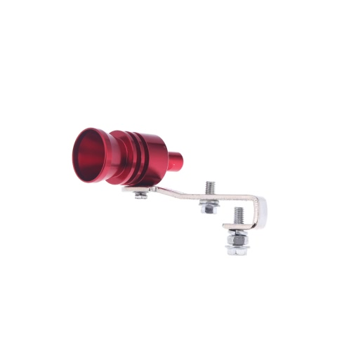Turbo Sound Whistle Exhaust Pipe Tailpipe Blow-off Valve Aluminum Size L Red