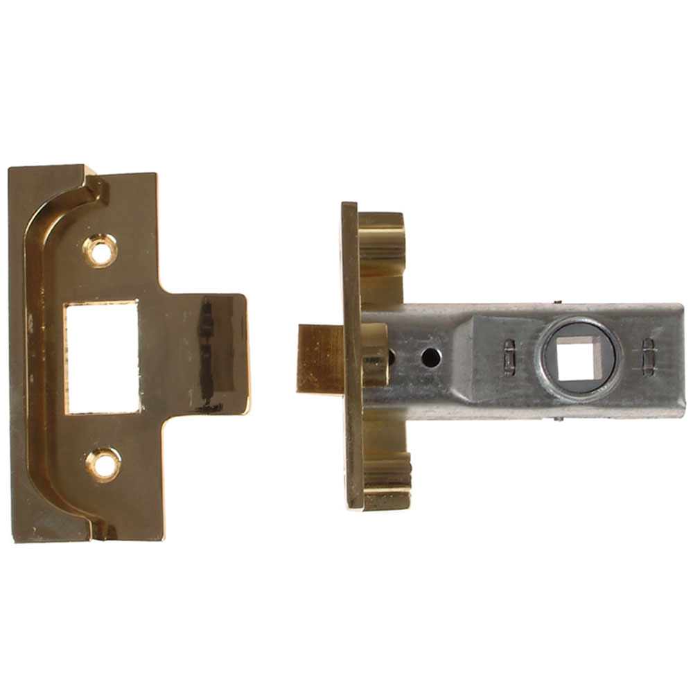 Yale M999 Rebated Tubular Latch, Polished Brass 2.5in x 64mm