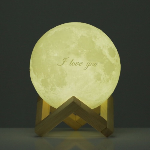 Tooarts Moon Lamp ? Valentine's Day Gift I LOVE YOU ? 3D Printed LED Light Modern Art Home Decor Moon In My Room US Plug 100-240V 50/60Hz