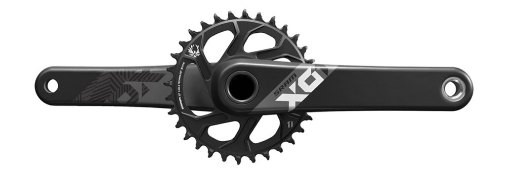 SRAM X01 Eagle, BB30 12 Speed Chainset-Black-170mm