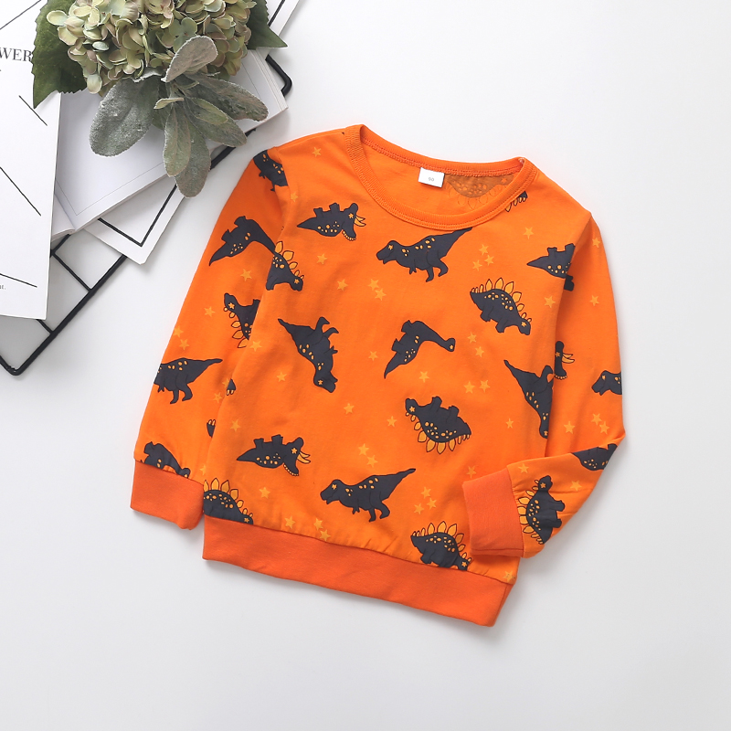 Baby / Toddler Trendy Cartoon Dino Print Long-sleeve Pullover