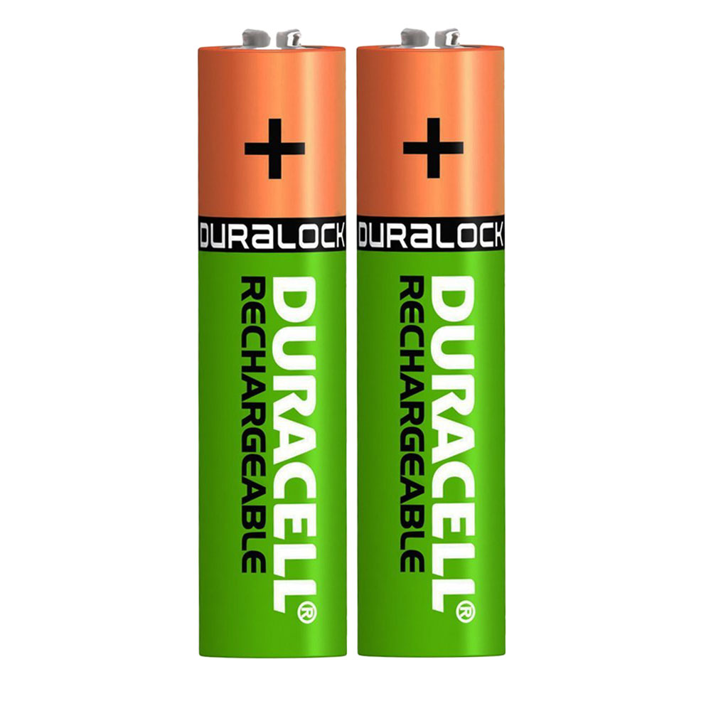 Duracell Recharge Plus AAA Rechargeable Batteries NiMH Pre and Stay Charged 750mAh - 2 Pack
