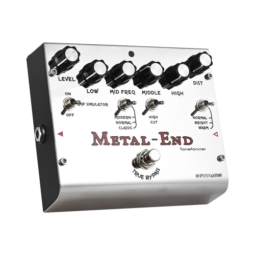 BIYANG METAL-END Pro pédale d'effet de distorsion intégrée E-Simulator EQ avec True Bypass Full Metal Shell