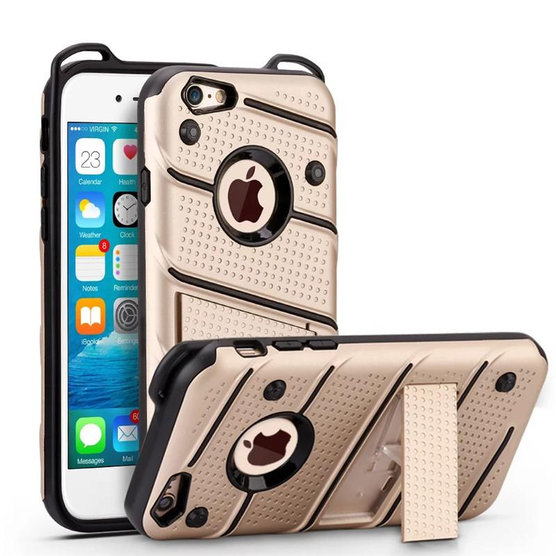 For Iphone 7 Case 2in1 Hybrid Soft TPU Shockproof Case Cover With Kickstand For iphone 7 7plus