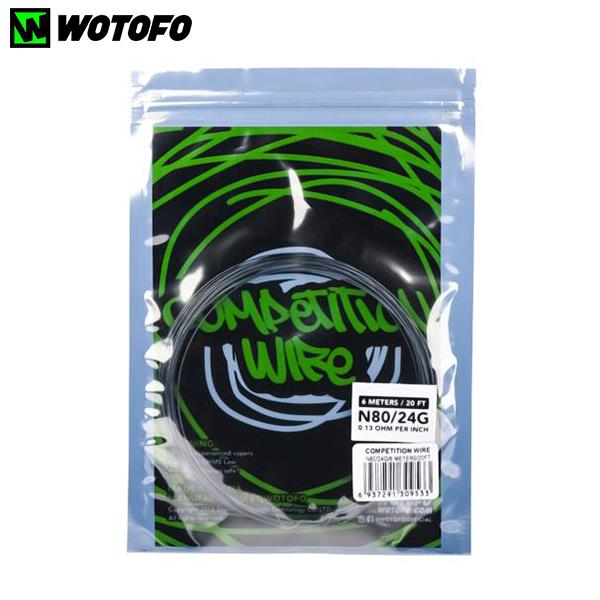 6M Authentic Wotofo Ni80 Nichrome80 Competition Coil Wire 24G 0.13ohm 20 Feet for RDA RTA DIY Building