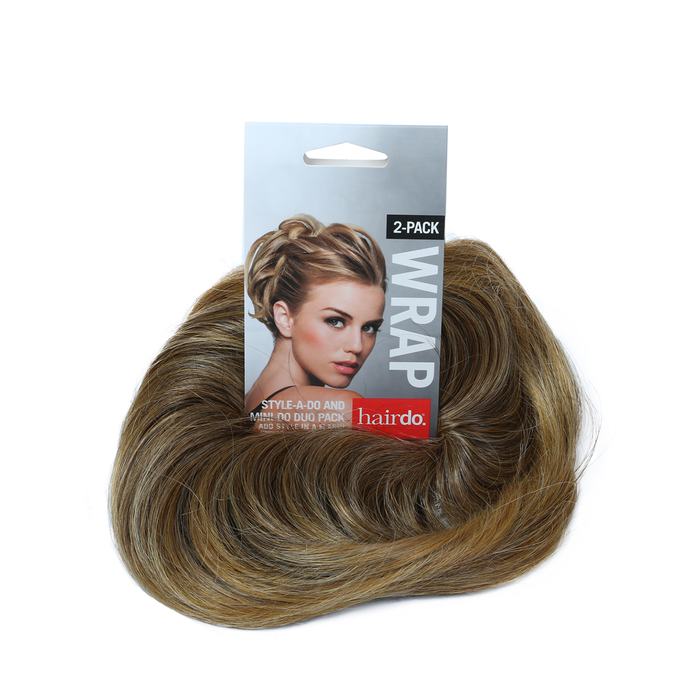 hairdo style-a-do and mini-do clip in hair piece r1416t/ buttered toast duo pack