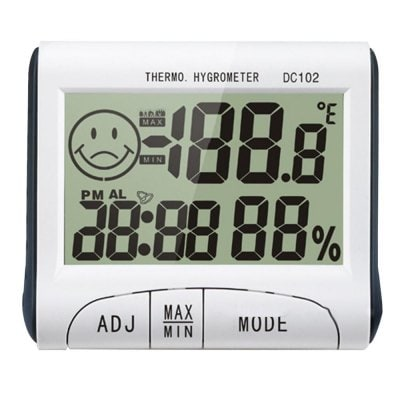 Mini LCD Digital Thermometer Hygrometer Temperature Humidity Meter Clock Desk Weather Station