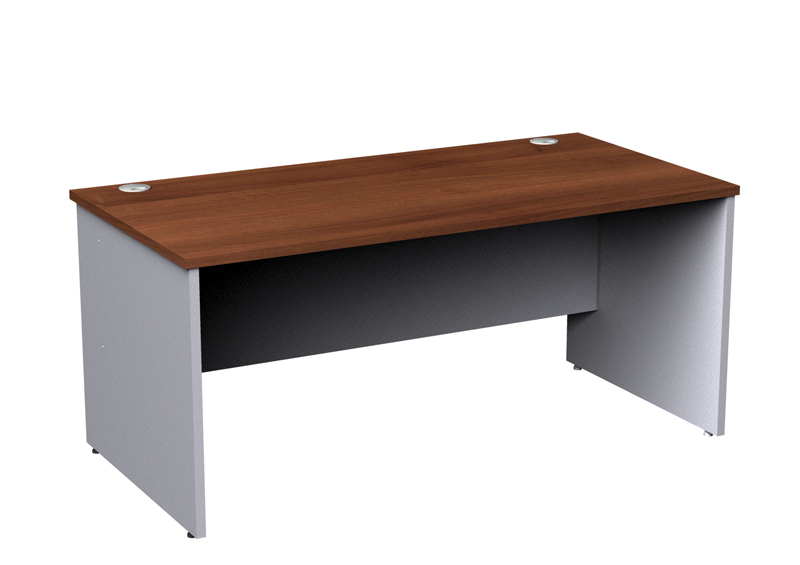 Duo Office Desk Walnut and White 1800mm