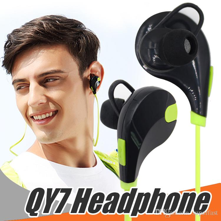 In Ear Bluetooth Headphone Sport Earphones QY7 4.1 Wireless Running Sport Headphones Noise Cancelling Headset For Iphone Samsung In Box
