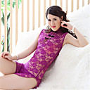 Women's Split Super Sexy Lace Lingerie / Ultra Sexy / Uniforms  Cheongsams Nightwear - Lace Solid Colored Purple Red Pink L XL XXL