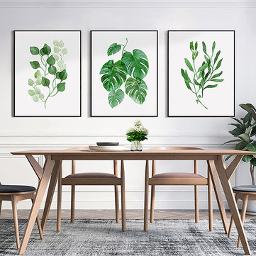 Village Green Plants Canvas Painting Natural
