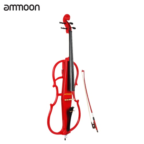 ammoon 4/4 Full Size Solid Wood Electric Cello