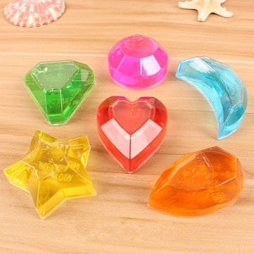 6PCS Crystal Diamond Star Slime