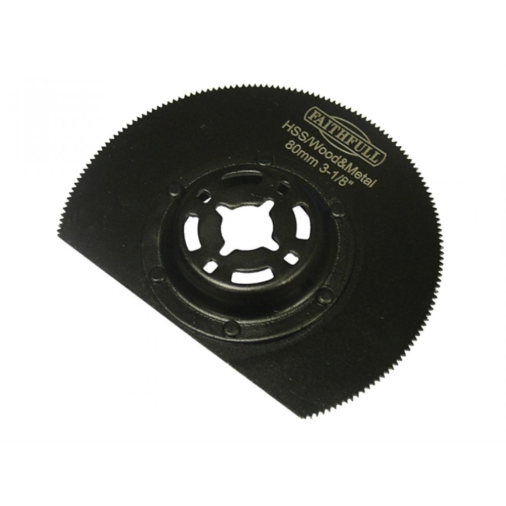Faithfull FAIMFWM80 80mm HSS Wood Metal Radial Blade
