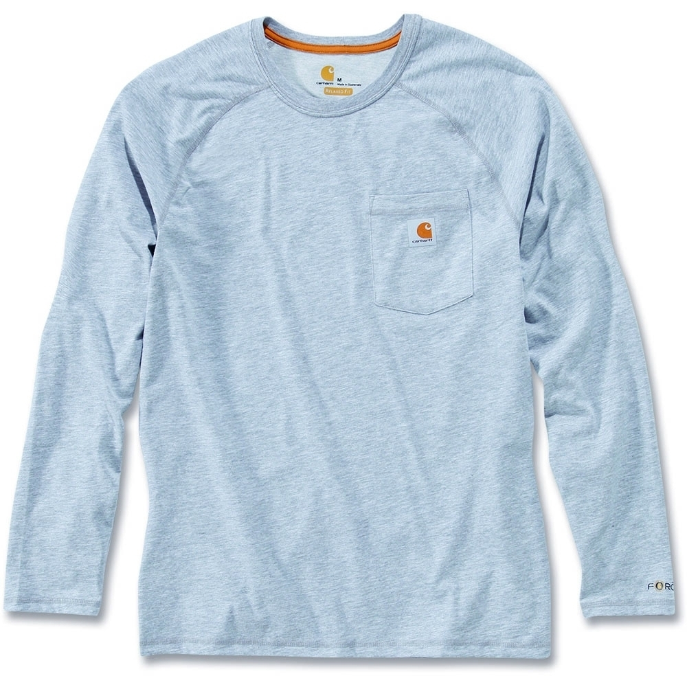 Carhartt Mens Long Sleeve Force Cotton Polyester Fast Drying T-Shirt XL - Chest 46-48' (117-122cm)