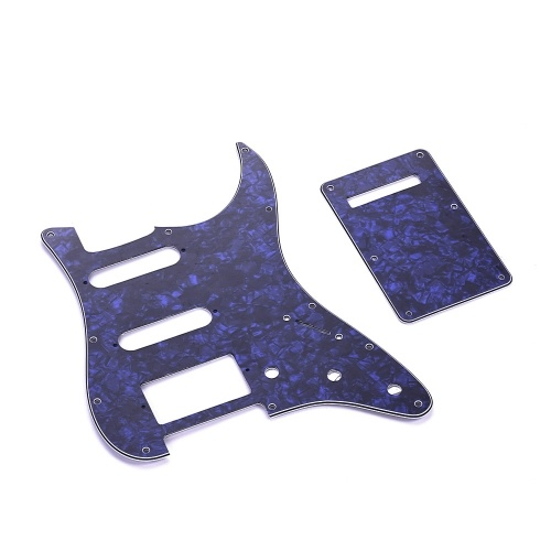 SSH Guitar Pickguard Set con tornillos de placa trasera PVC Pick Guard
