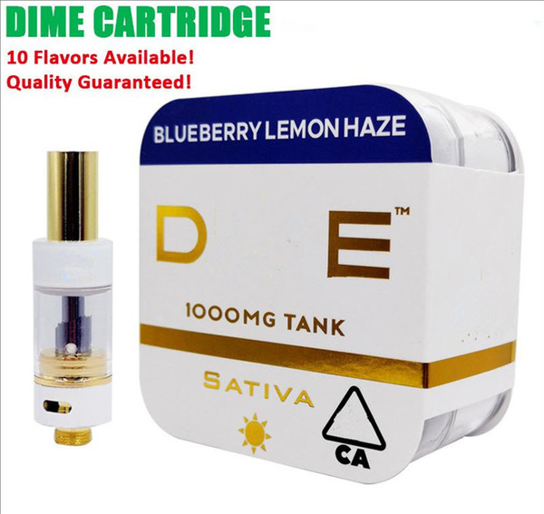 Premium DIME Cartridge Vape Cart Big Diameter 0.8ML Tank Ceramic Coil Thick Oil 510 Vaporizer Atomizer Muha Med
