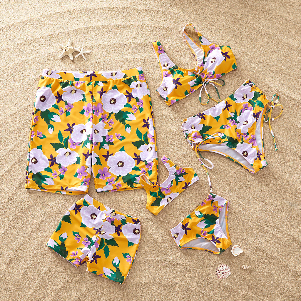 Colorful Floral Family Swimsuits