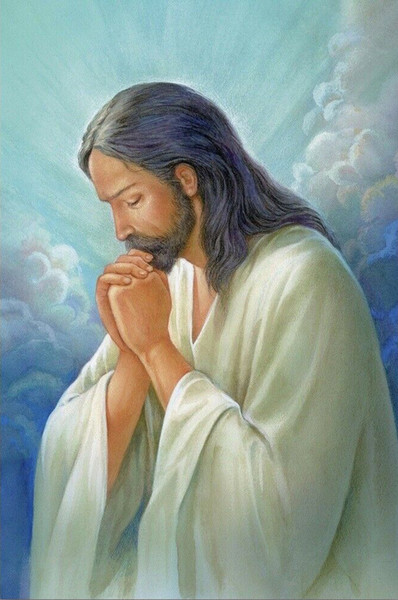jesus praying home decor handpainted &hd print oil paintings on canvas wall art pictures 200220