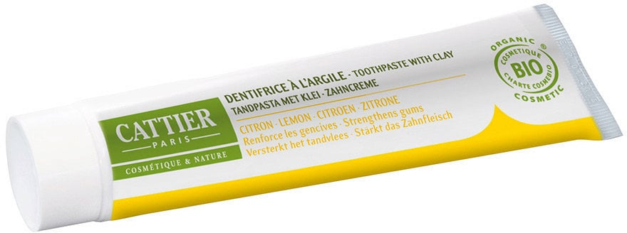 CATTIER Paris Toothpaste with Medicinal Clay Lemon - 15 ml