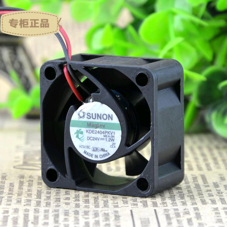 Free Shipping Taiwan SUNON maglev fan KDE2404PKV1 4020 4CM 24V 1.2W power supply axial cooling fan