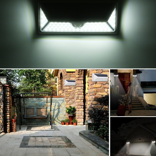 73pcs 1800mAh Solar Powered PIR Motion Sensor Light Control Wall Lamp