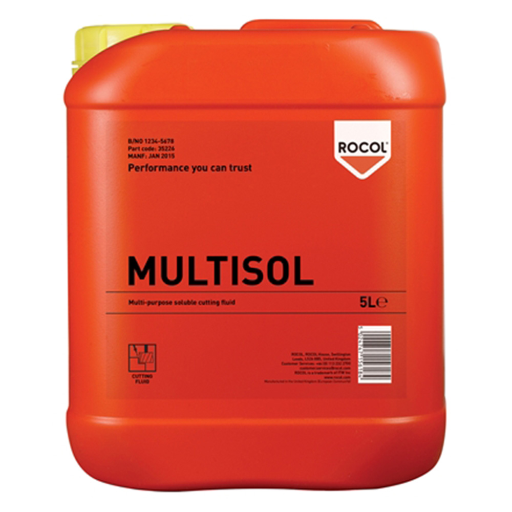 Rocol Multisol Water Mix Cutting Fluid 5l 35226