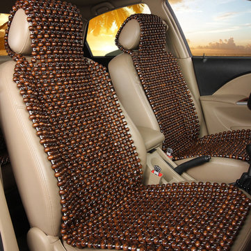 Natural Wood Wooden Beaded Seat Cover Massage Cool Comfortable Car Cushion Office Chair Cover