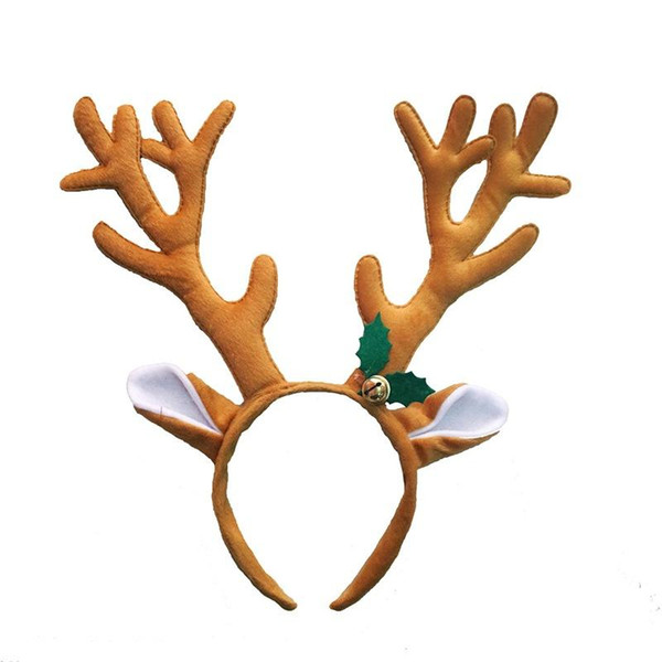 Kids Ladies Funny Reindeer Antler Headband with Bell Funny Party Hair Band Head Band Christmas Fancy Dress Costumes