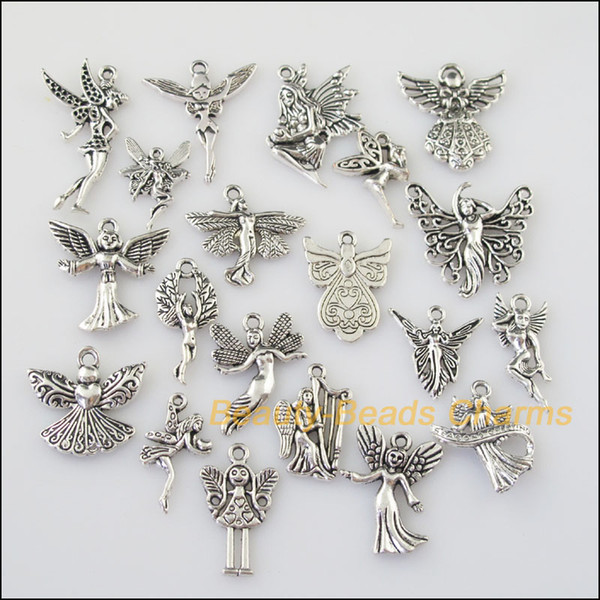 20pcs antiqued silver tone diy/ lovely angel mixed charms pendants