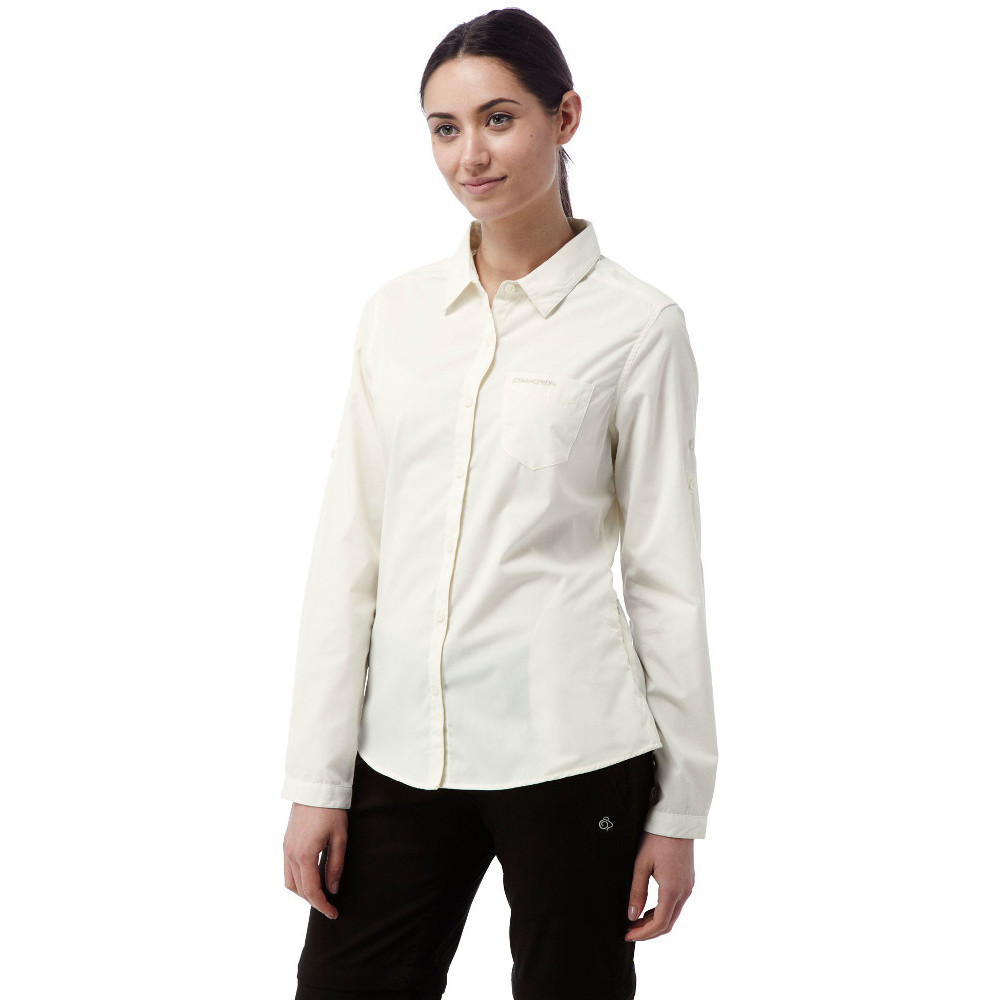 Craghoppers Womens/Ladies Kiwi Long Sleeve Polycotton Button Shirt 16 - Bust 40