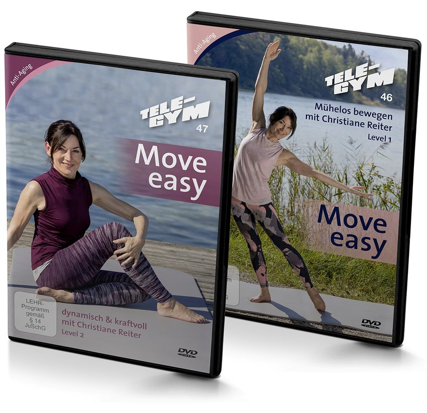 TELE-GYM 46+47 Move easy 2-er Package Level 1+2 mit Christiane Reiter
