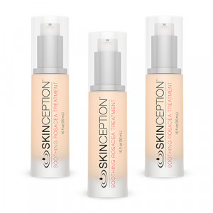 Skinception Rosacea Relief - Deeply Soothing Creamy Serum - 30ml Topical Skin Application - 3 Packs