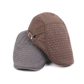 Men Women Cotton Washed Holes Beret Hat Casual Vintage Sunshade Caps Adjustable